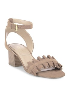 Michael Kors Collection Monroe Suede Ankle-Strap Sandals