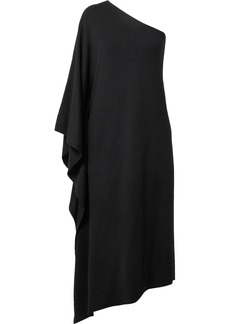 Michael Kors One-shoulder Asymmetric Cashmere Dress