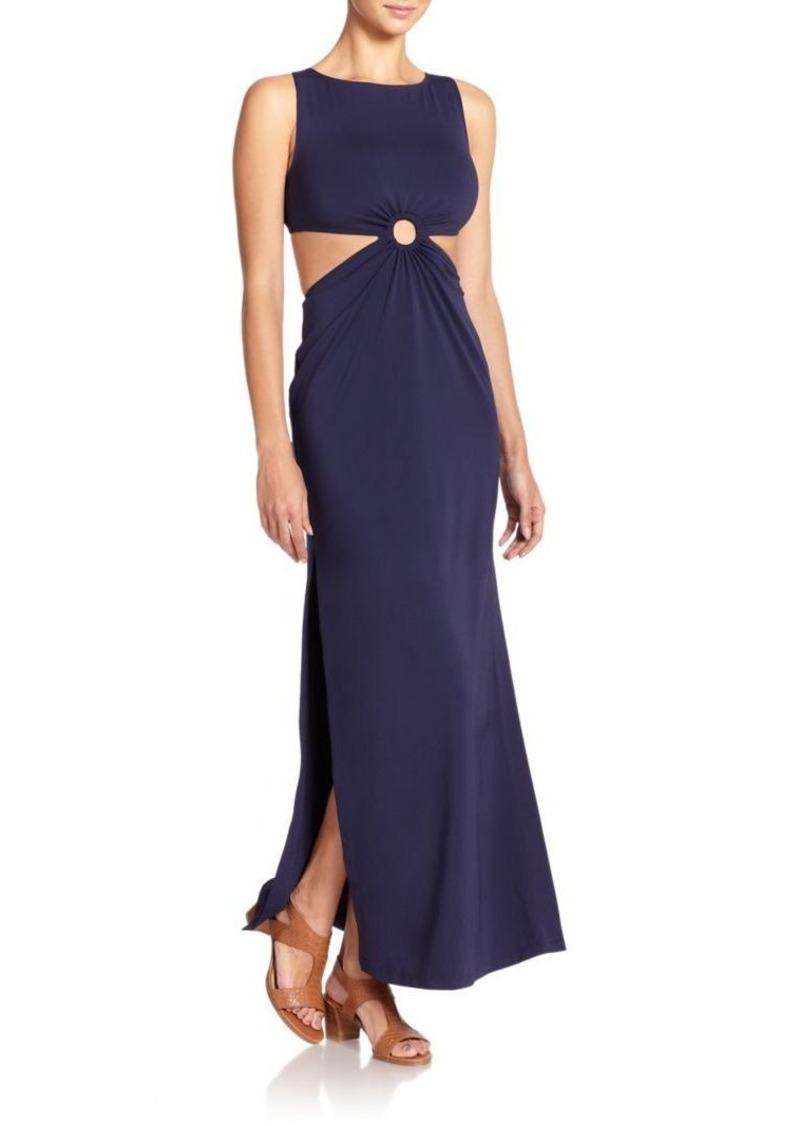 Michael Kors Collection Open-Back Draped Jersey Dress