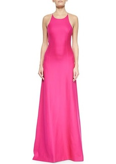 Michael Kors Open-Back Satin Gown