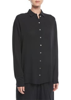 Michael Kors Collection Oversized Silk Georgette Blouse