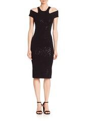 Michael Kors Collection Paillette Racer Sheath Dress