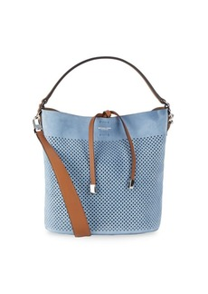 Michael Kors Collection Perforated Suede Shoulder Bag