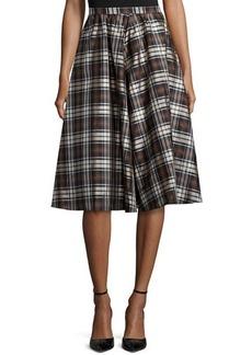 Michael Kors Plaid Dirndl Skirt