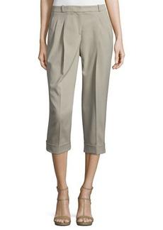 Michael Kors Pleated-Front Slouch Capri Pants