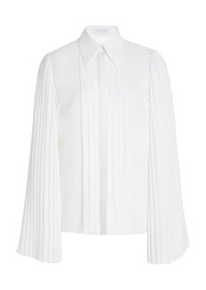 Michael Kors Collection Pleated Silk-Georgette Blouse