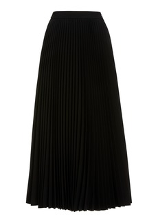 Michael Kors Collection Pleated Wool-Serge Flared Skirt