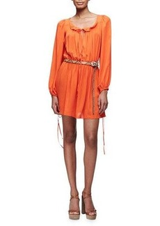 Michael Kors Collection Poet Long-Sleeve Mini Dress