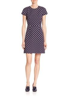 Michael Kors Collection Polka Dot Cap-Sleeve Dress