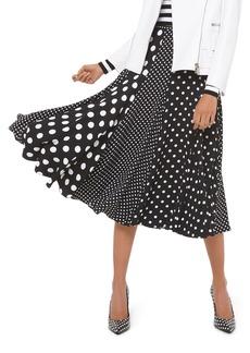 Michael Kors Collection Polka-Dot Paneled Dance Skirt