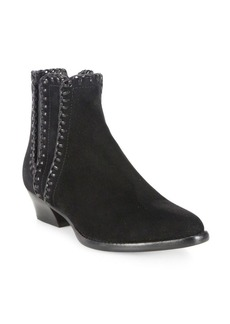 Michael Kors Collection Presley Whipstitched Suede Booties