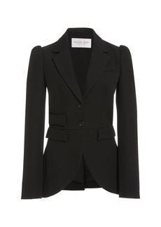 Michael Kors Collection Puffed-Sleeve Gabardine Blazer