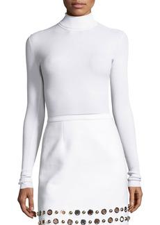 Michael Kors Ribbed Long-Sleeve Turtleneck Sweater