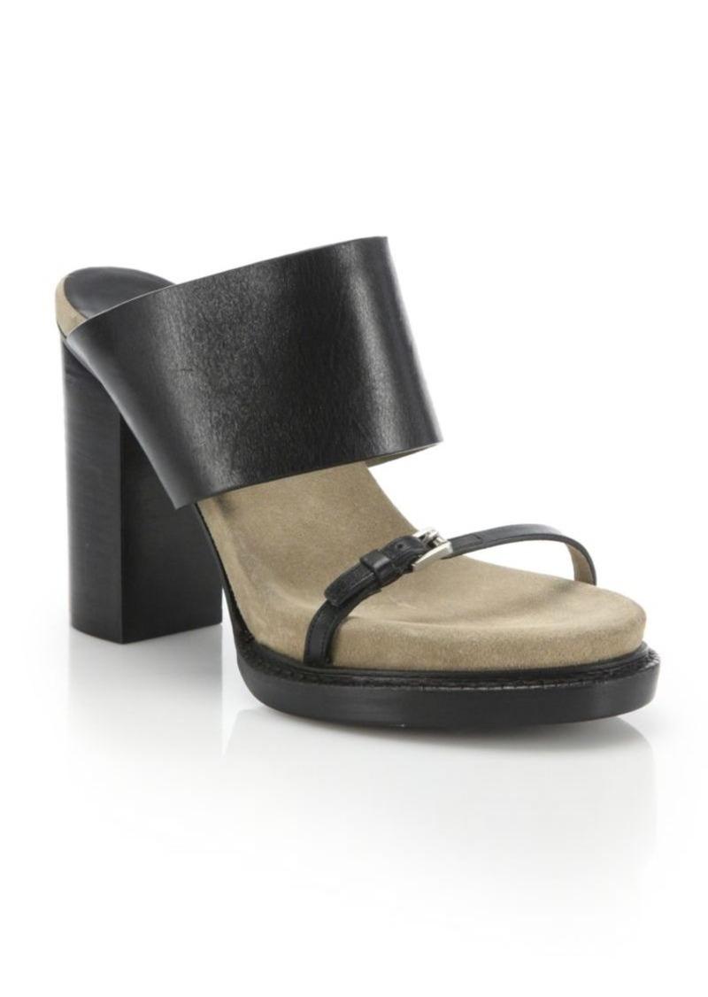 Michael Kors Collection Rita Runway Leather Mules