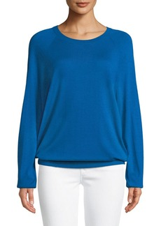 Michael Kors Collection Round-Neck Long-Sleeve Merino/Cashmere Pullover