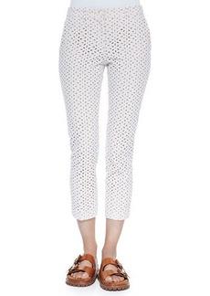 Michael Kors Collection Samantha Cropped Eyelet Pants