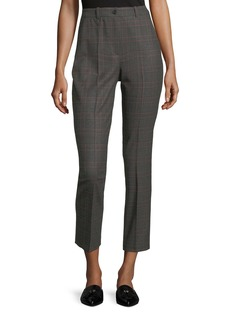 Michael Kors Collection Samantha Cropped Plaid Pants