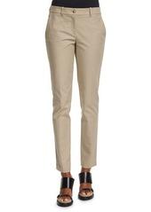 Michael Kors Samantha Mid-Rise Twill Ankle Pants