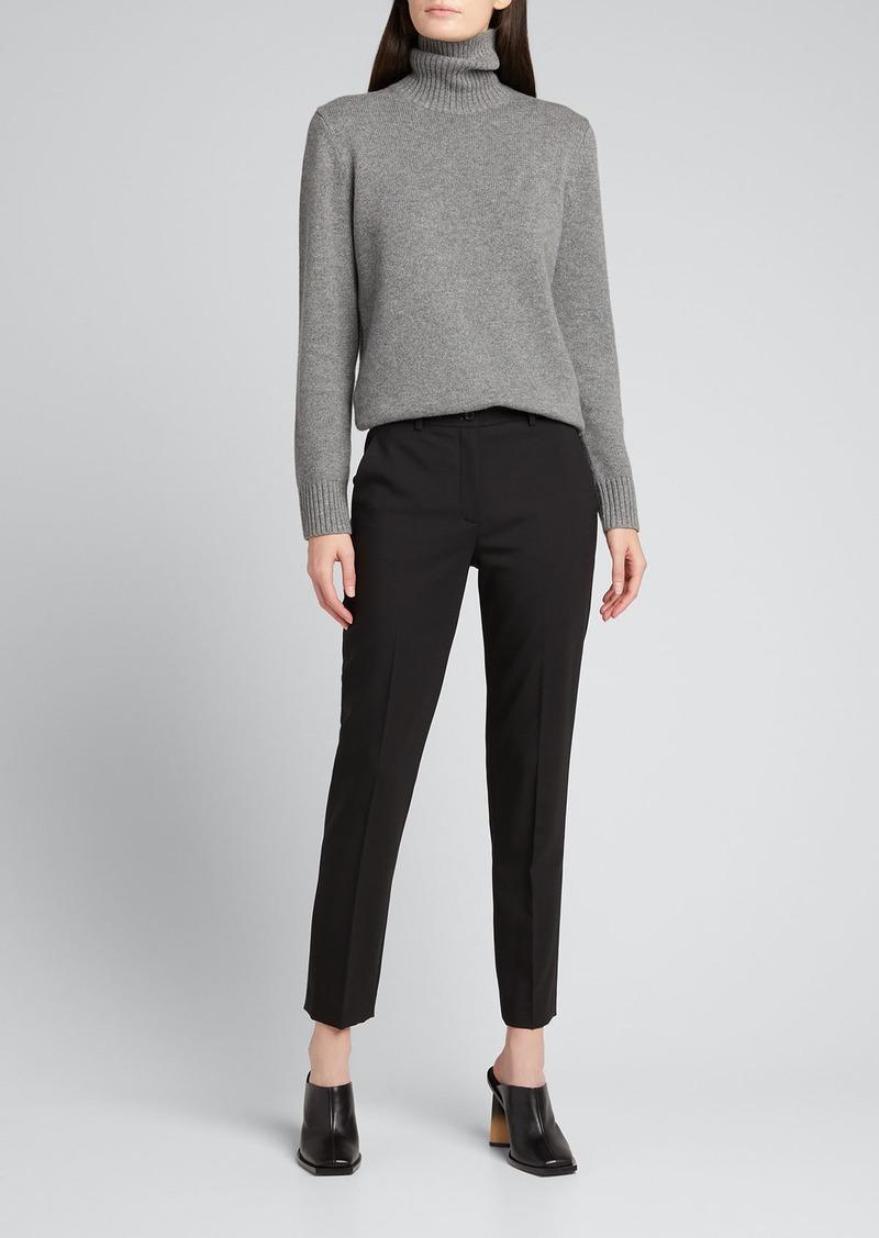 Michael Kors Collection Samantha Slim-Leg Wool Ankle Pants