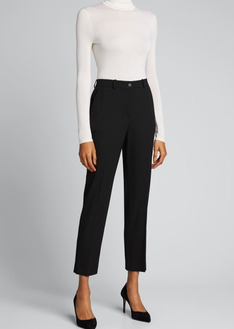 Michael Kors Collection Samantha Wool-Blend Ankle Pants