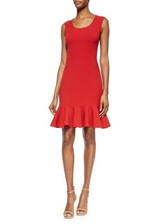 Michael Kors Scoop-Neck Flounce-Hem Dress