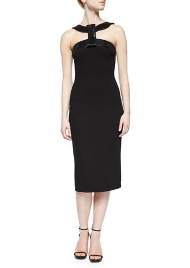 Michael Kors Sequined Bow Halter Dress