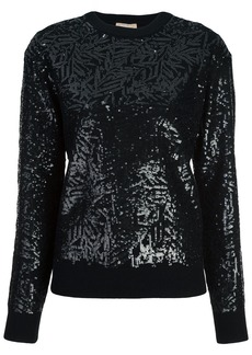 Michael Kors Collection sequined crew-neck jumper - Black