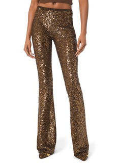 Michael Kors Collection Sequined Flare-Leg Pants