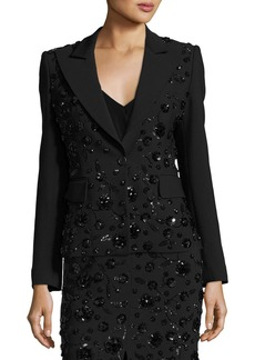 Michael Kors Sequined-Floral Dinner Jacket