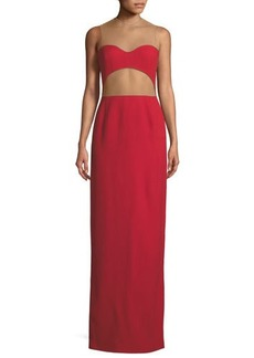 Michael Kors Collection Sheer-Back Cutout Column Gown