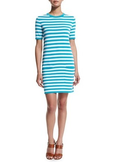 Michael Kors Short-Sleeve Striped T-Shirt Dress