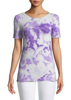 Michael Kors Collection Short-Sleeve Tie-Dye Sweater