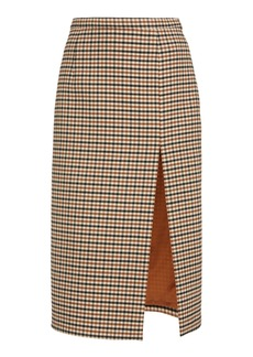 Michael Kors Collection Side Slit Gabardine Pencil Skirt