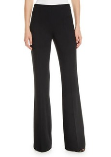 Michael Kors Collection Side-Zip Flare-Leg Crepe Pants