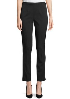 Michael Kors Collection Side-Zip Stretch-Pebble Crepe Narrow-Leg Pants