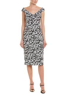 Michael Kors Collection Silk-Blend Sheath Dress