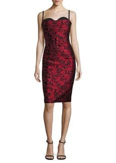 Michael Kors Collection Silk Bustier Sheath Dress