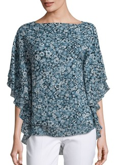 Michael Kors Collection Silk Floral Blouse