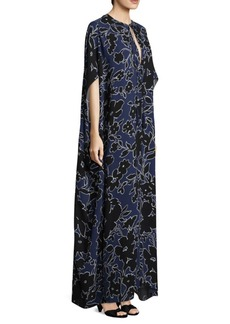 Michael Kors Silk Floral Caftan Dress