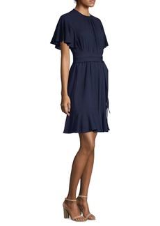Michael Kors Silk Flutter Sleeve Dress