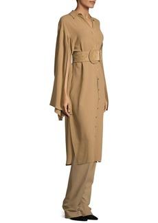 Michael Kors Collection Silk Georgette Slit Sleeve Tunic Dress