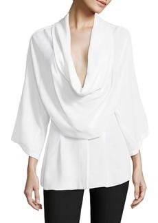 Michael Kors Collection Silk Kimono Blouse