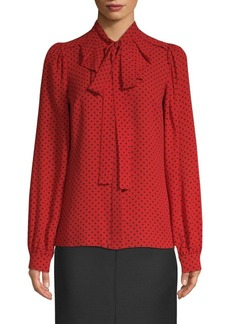 Michael Kors Silk Polka Dot Blouse