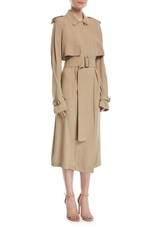 Michael Kors Collection Silk Trench Dress with Belt