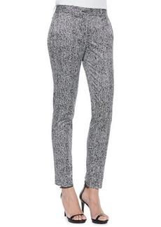 Michael Kors Skinny Herringbone-Print Pants