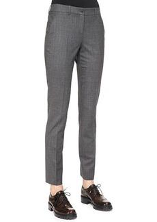 Michael Kors Skinny Woven Ankle Pants