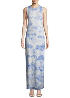Michael Kors Collection Sleeveless Crewneck Tie-Dye Maxi Dress