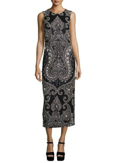 Michael Kors Sleeveless Embellished Column Gown