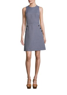 Michael Kors Collection Wool Gingham Dress