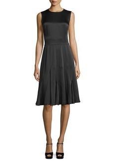 Michael Kors Collection Sleeveless Godet-Pleated Dress